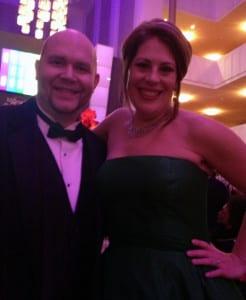 Robert Kerr poses for a photograph alongside Metropolitan Opera soprano, Sondra Radvanovsky