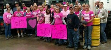 Chris Hanson's coworkers show their love and support in this challenging time.